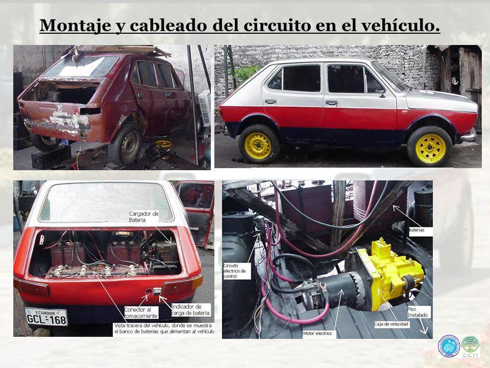 Montaje y cableado del circuito en el vehículo.
