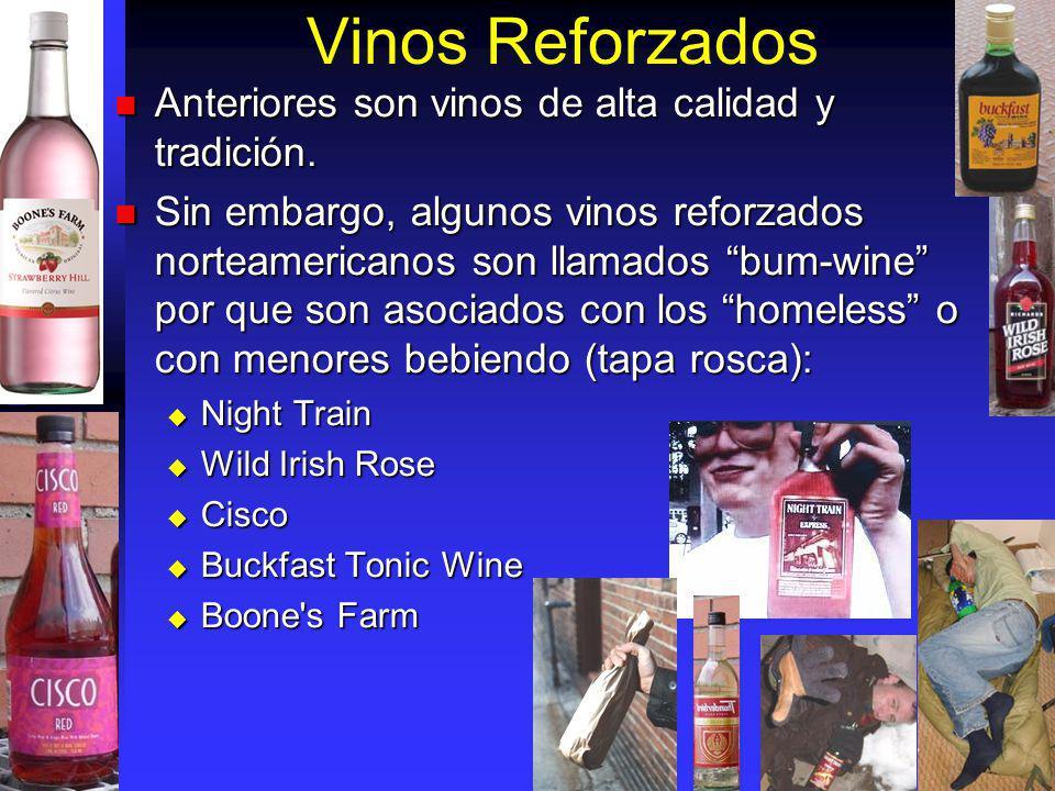 Vinos Reforzados Anteriores son vinos de alta calidad y tradición. Anteriores son vinos de alta calidad y tradición. Sin embargo, algunos vinos reforz