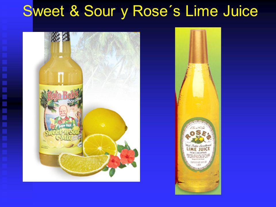 Sweet & Sour y Rose´s Lime Juice