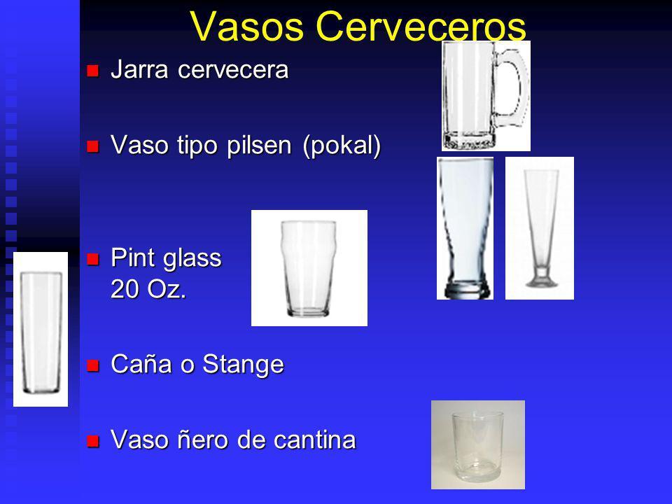 Vasos Cerveceros Jarra cervecera Jarra cervecera Vaso tipo pilsen (pokal) Vaso tipo pilsen (pokal) Pint glass 20 Oz. Pint glass 20 Oz. Caña o Stange C