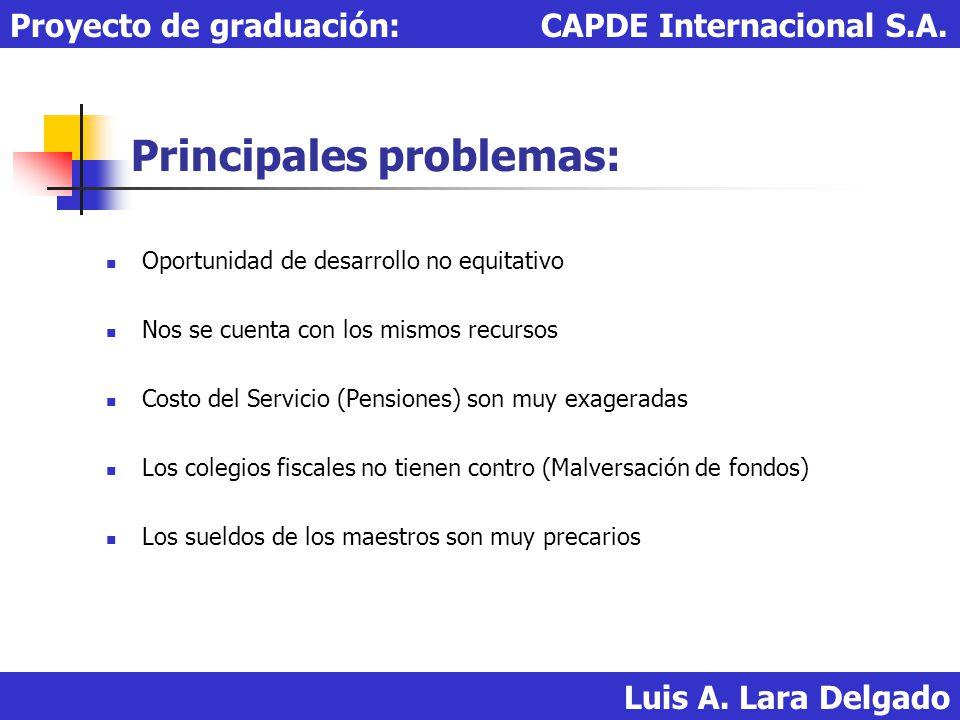 Financiamiento para construcción e implementación del servicio: Luis A.