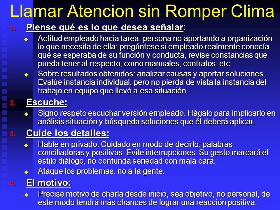 Llamar Atencion sin Romper Clima 1.