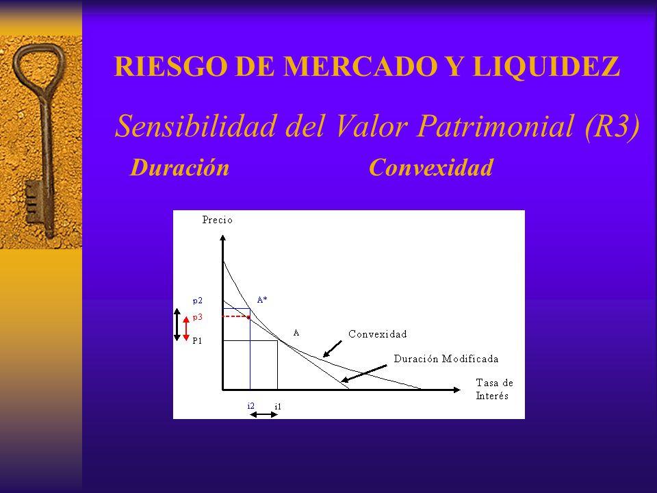 RIESGO DE MERCADO Y LIQUIDEZ Sensibilidad del Valor Patrimonial (R3) DuraciónConvexidad