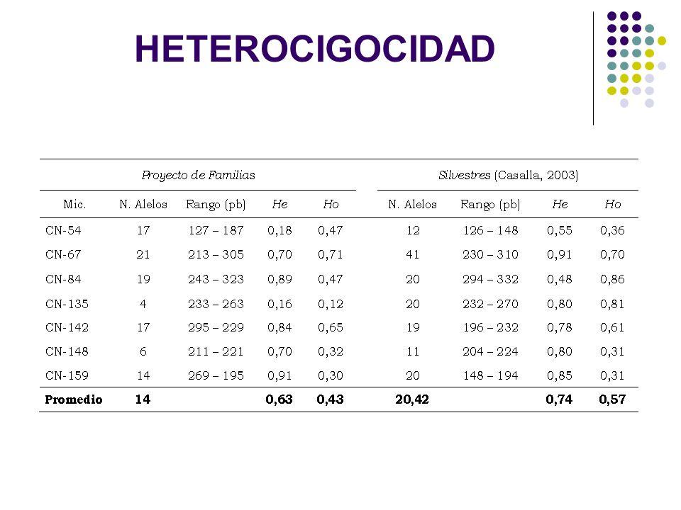 HETEROCIGOCIDAD
