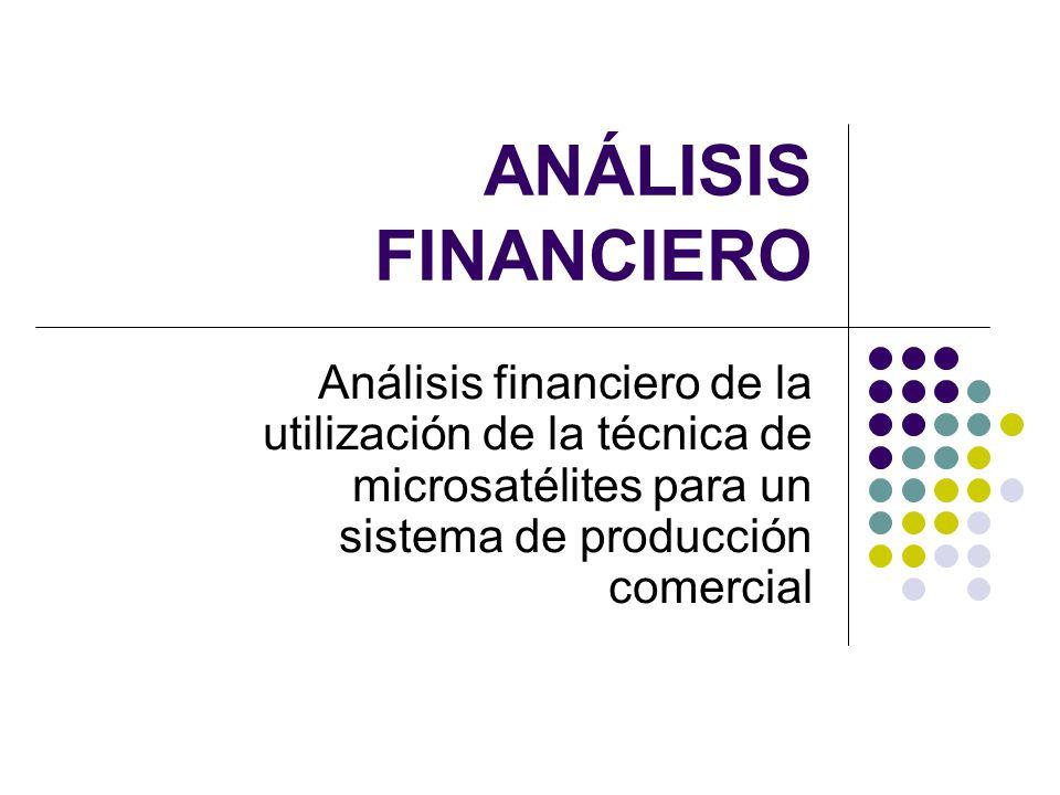 ANÁLISIS FINANCIERO Análisis financiero de la utilización de la técnica de microsatélites para un sistema de producción comercial