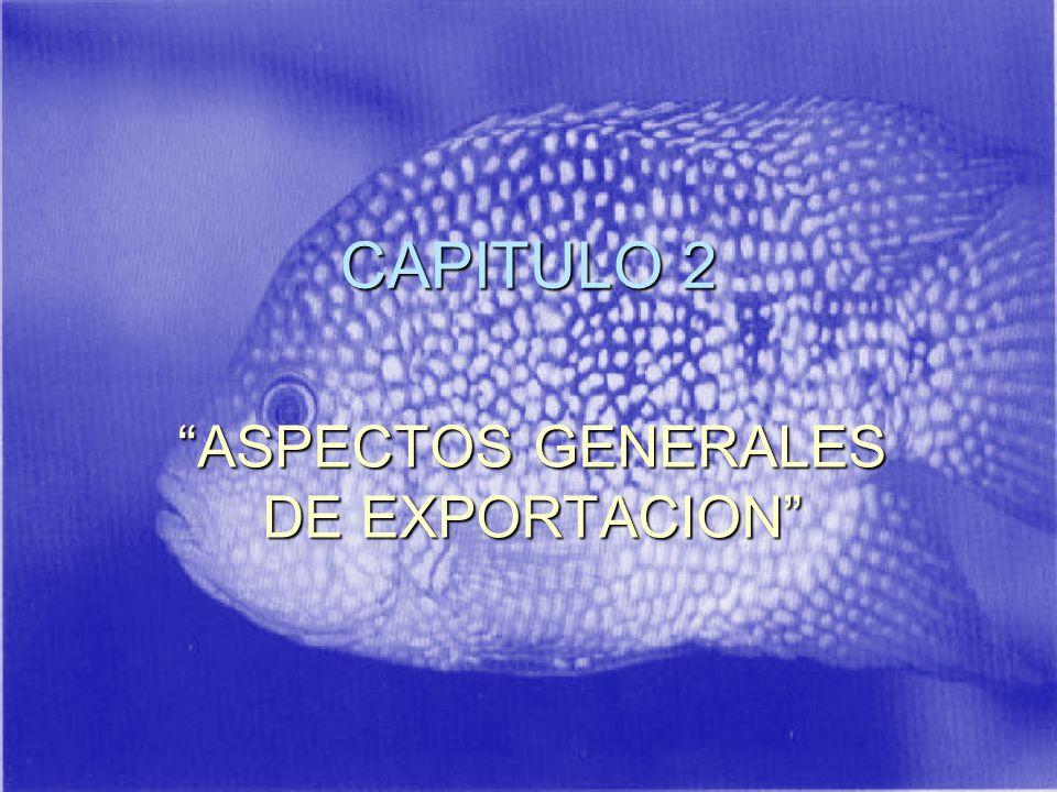 CAPITULO 2 ASPECTOS GENERALES DE EXPORTACION