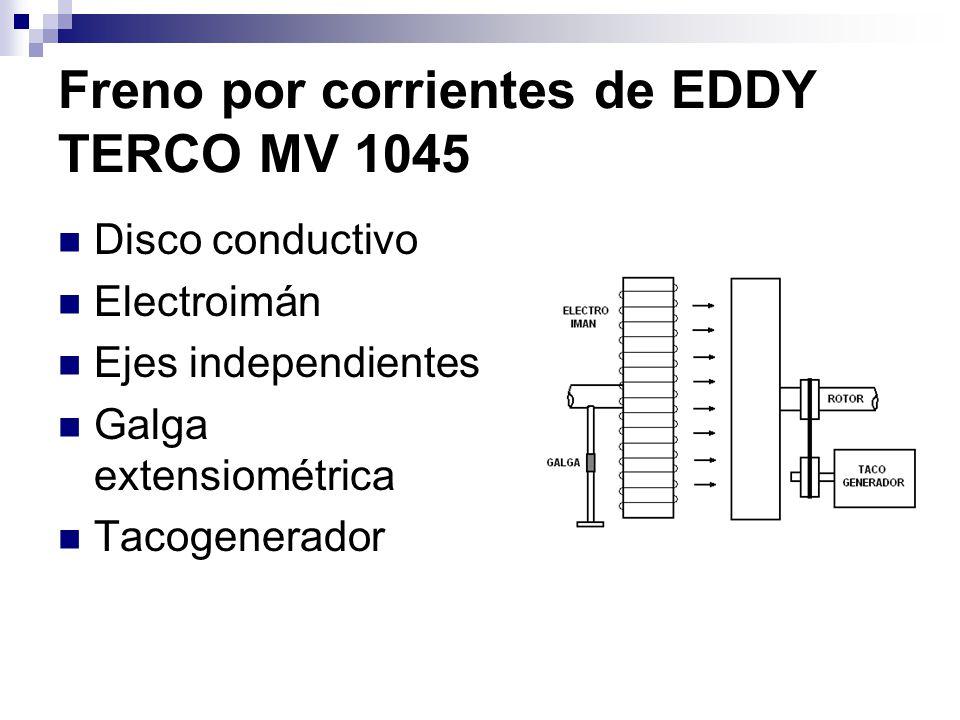 Freno por corrientes de EDDY TERCO MV 1045 Disco conductivo Electroimán Ejes independientes Galga extensiométrica Tacogenerador