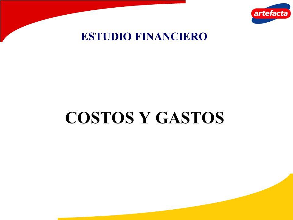 ESTUDIO FINANCIERO COSTOS Y GASTOS