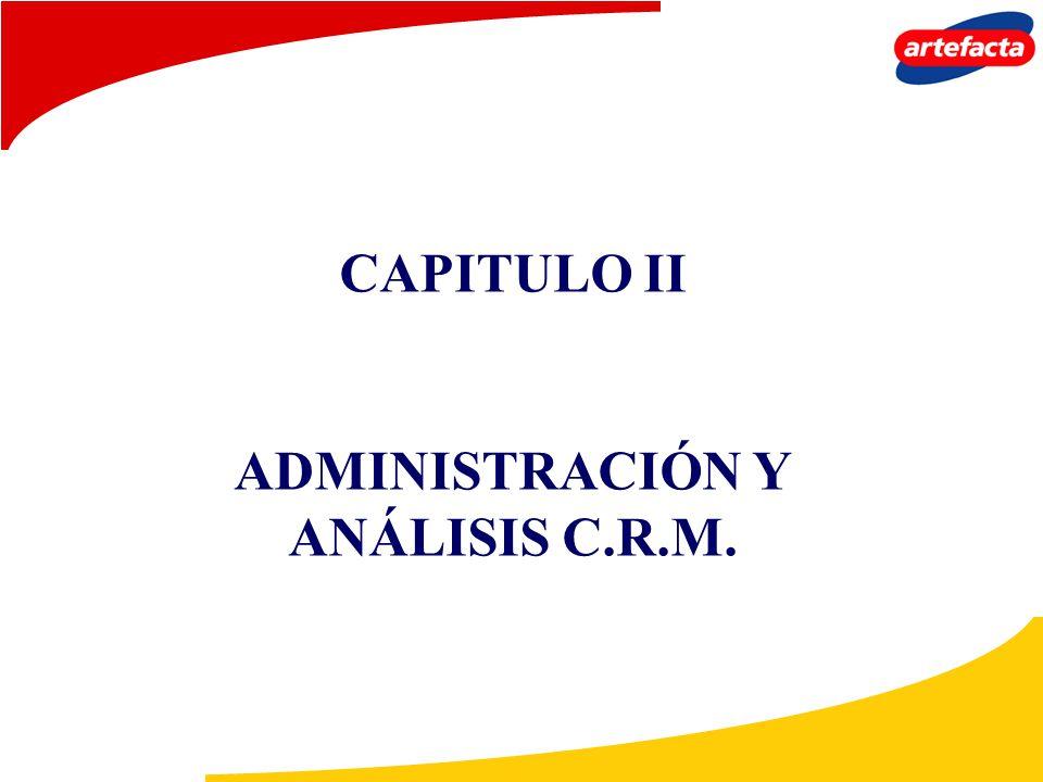 CAPITULO II ADMINISTRACIÓN Y ANÁLISIS C.R.M.