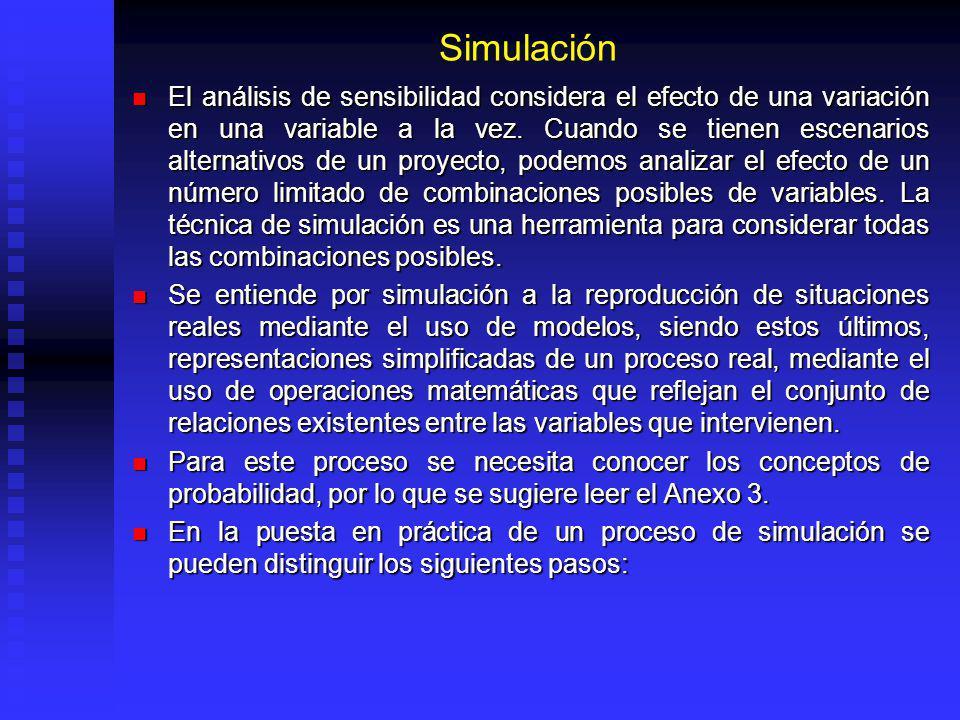 Análisis de Sensibilidad El análisis de un proyecto resulta más valioso si se efectúa un análisis de sensibilidad de las variables importantes. El aná