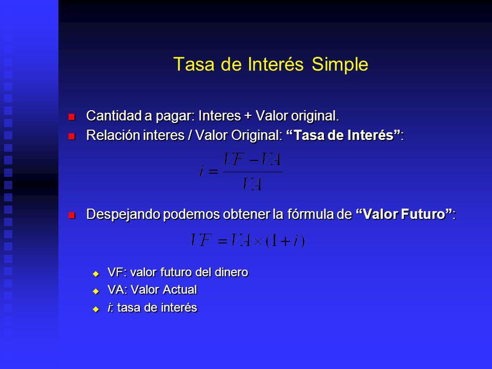 TIR, Problema 4.- Hay Flujos con mas de una TIR Calculando Matemáticamente: Calculando Matemáticamente: y remplazando: y remplazando: despejando: despejando: 400(1 + r ) 2 - 2500(1 + r )+ 2500 = 0...