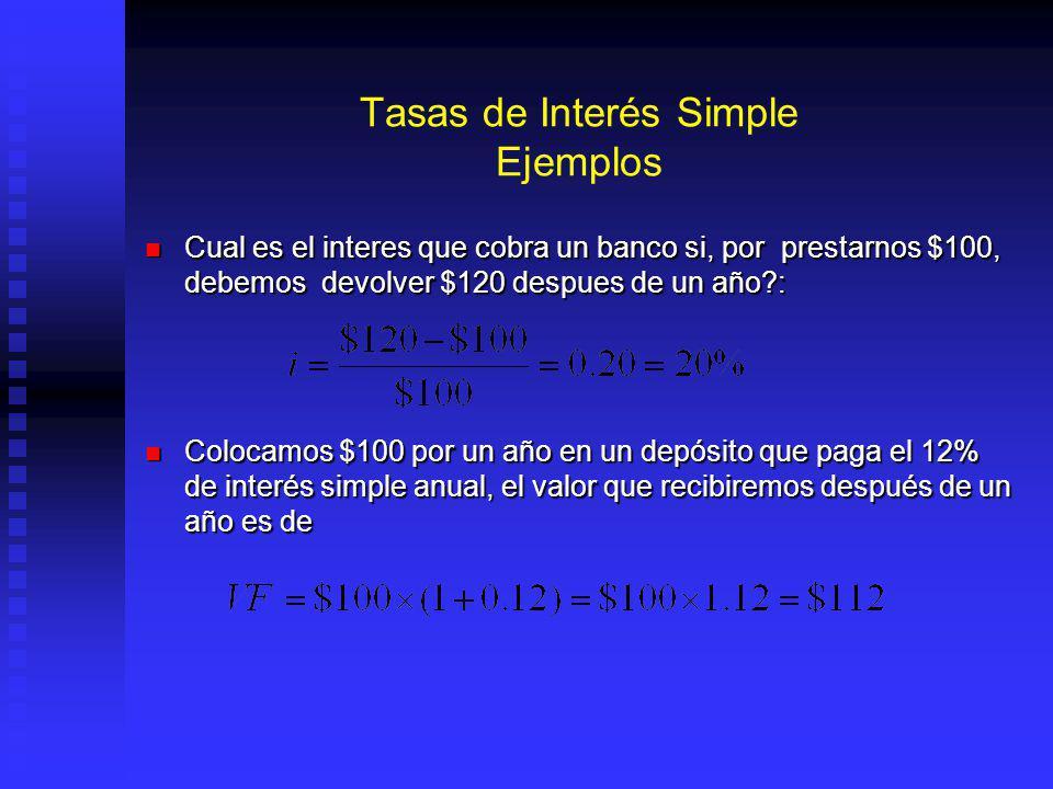 TIR, Problema 4.- Hay Flujos con mas de una TIR Lo que corresponde a una ecuación del tipo: Lo que corresponde a una ecuación del tipo: a x 2 + b x + c = 0 En donde : En donde : o sea: o sea: Teniendo entonces: Teniendo entonces: r 1 = (2500 +1500)/800 –1 = 400% r 1 = (2500 +1500)/800 –1 = 400% r 2 = (2500 - 1500)/800 –1 = 25% r 2 = (2500 - 1500)/800 –1 = 25%