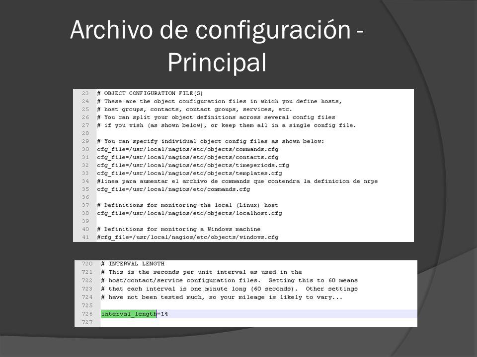 Archivo de configuración - Principal