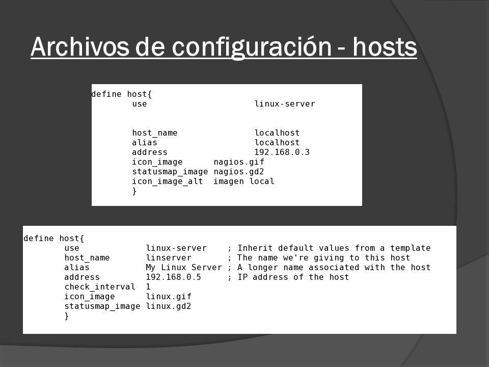 Archivos de configuración - hosts