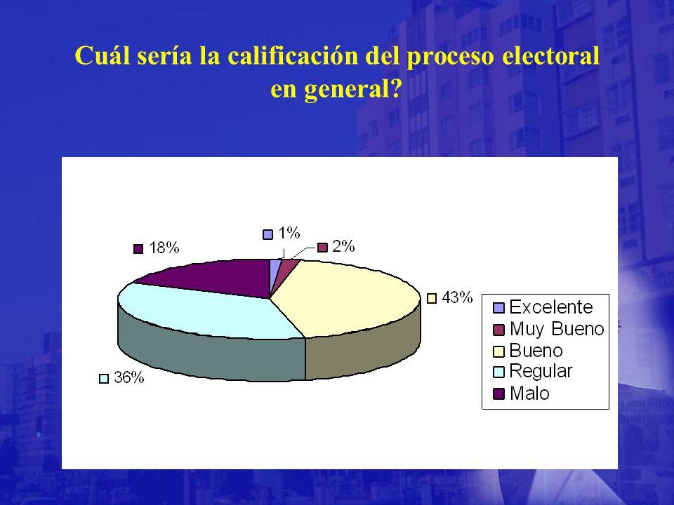 Cuál sería la calificación del proceso electoral en general