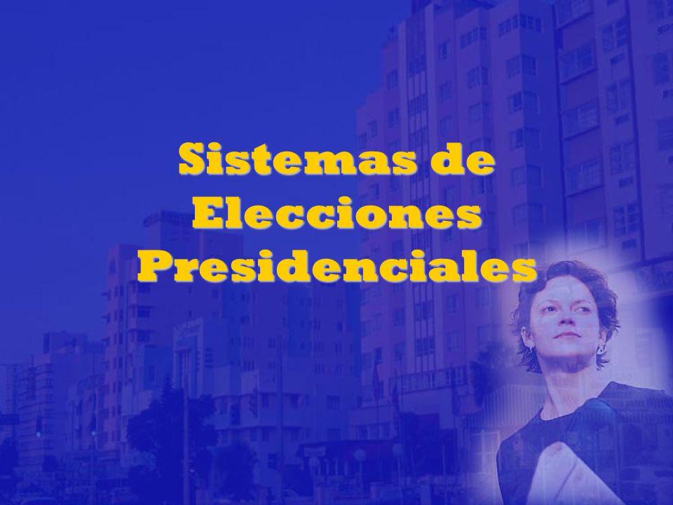 Sistemas de Elecciones Presidenciales