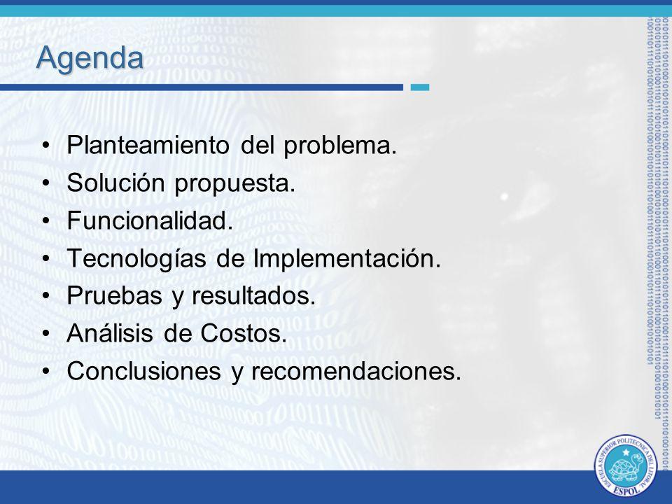 Agenda Planteamiento del problema.Solución propuesta.