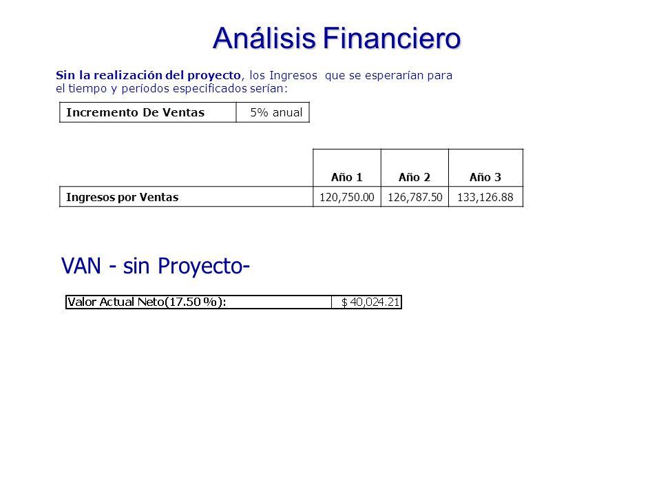 Análisis Financiero Información Preliminar: AñoObjetivo FacturaciónResultado 2004$92,000.00$81,143.00 2005$115,000.00$105,000.00 * Crecimiento esperado: 25% anual