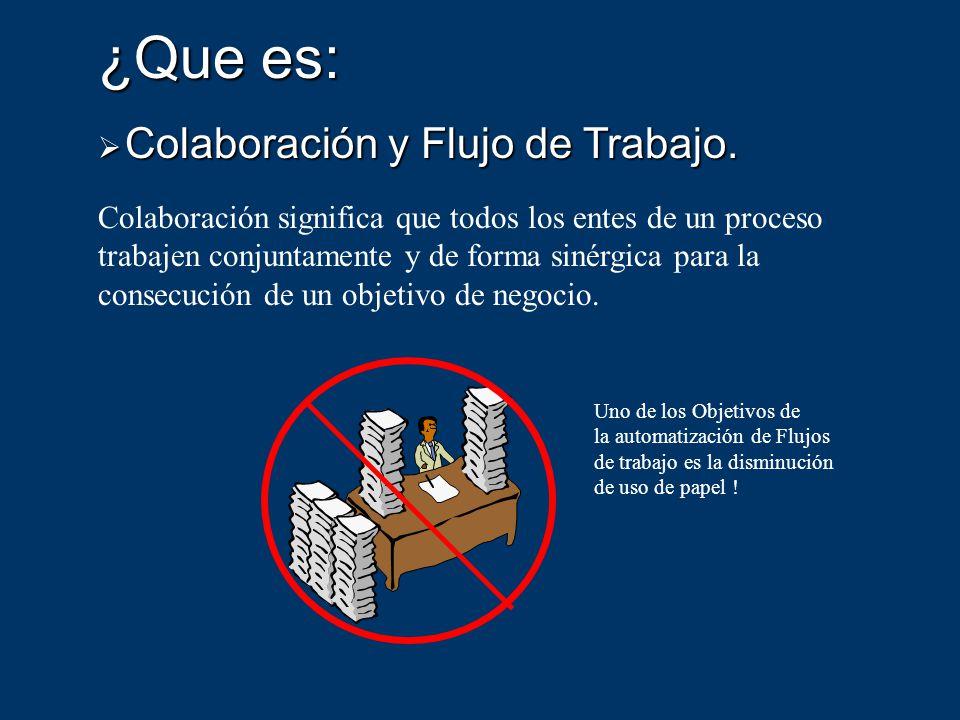 ¿Que es: Colaboración y Flujo de Trabajo.Colaboración y Flujo de Trabajo.