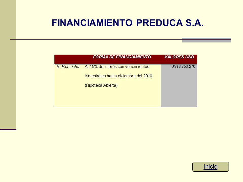 FINANCIAMIENTO PREDUCA S.A. Inicio