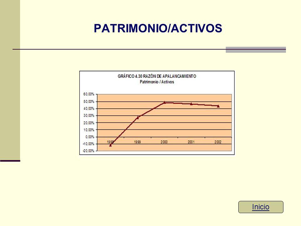 PATRIMONIO/ACTIVOS Inicio
