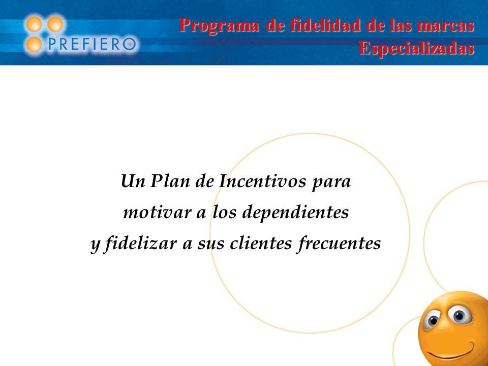 Programa de fidelidad de las marcas Especializadas Un Plan de Incentivos para motivar a los dependientes y fidelizar a sus clientes frecuentes