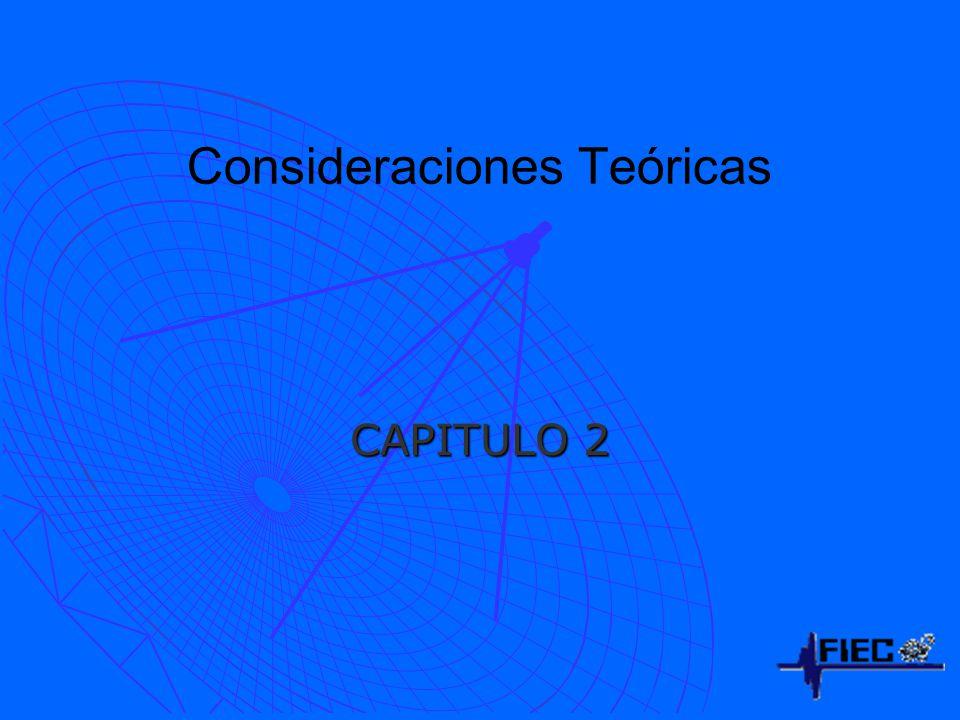 Consideraciones Teóricas CAPITULO 2