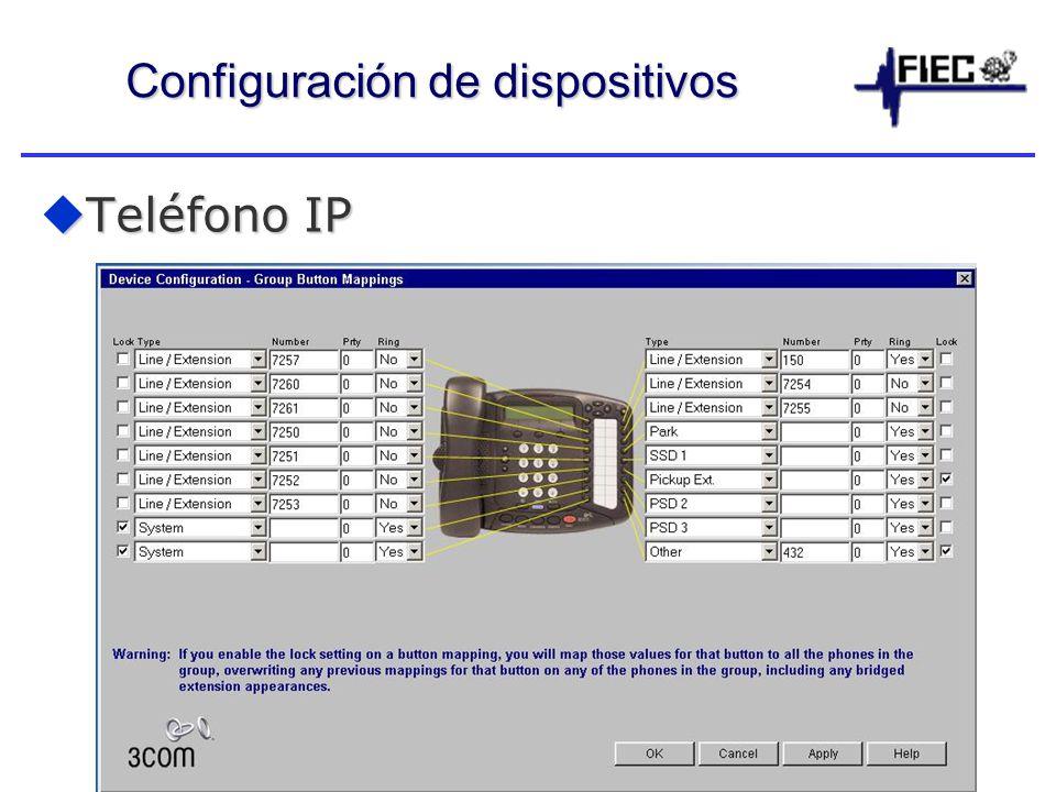 Configuración de dispositivos Teléfono IP Teléfono IP