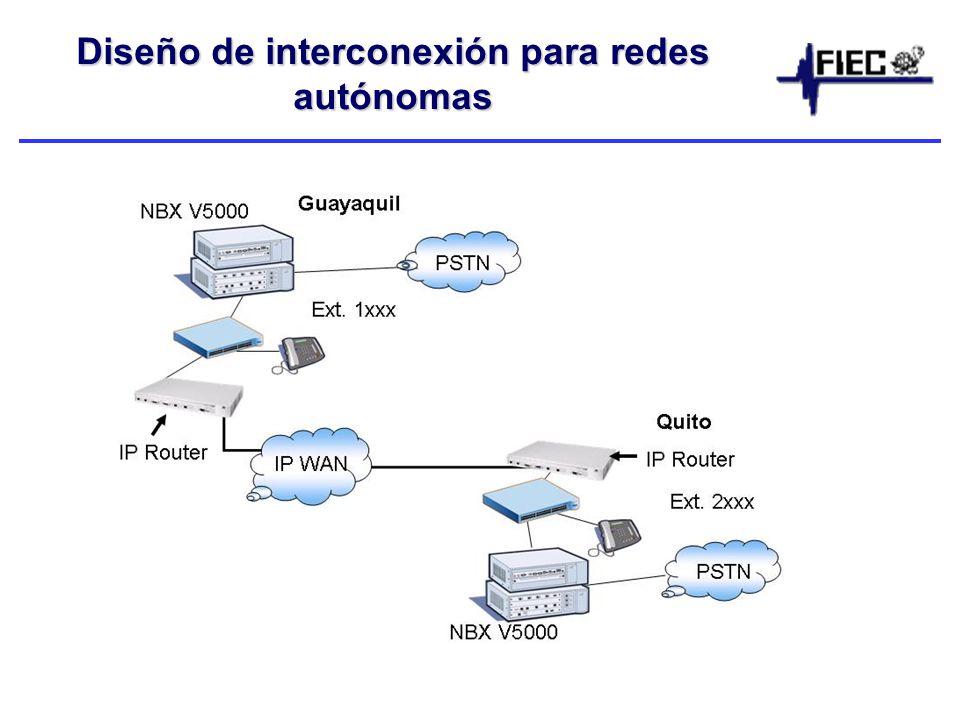 Diseño de interconexión para redes autónomas