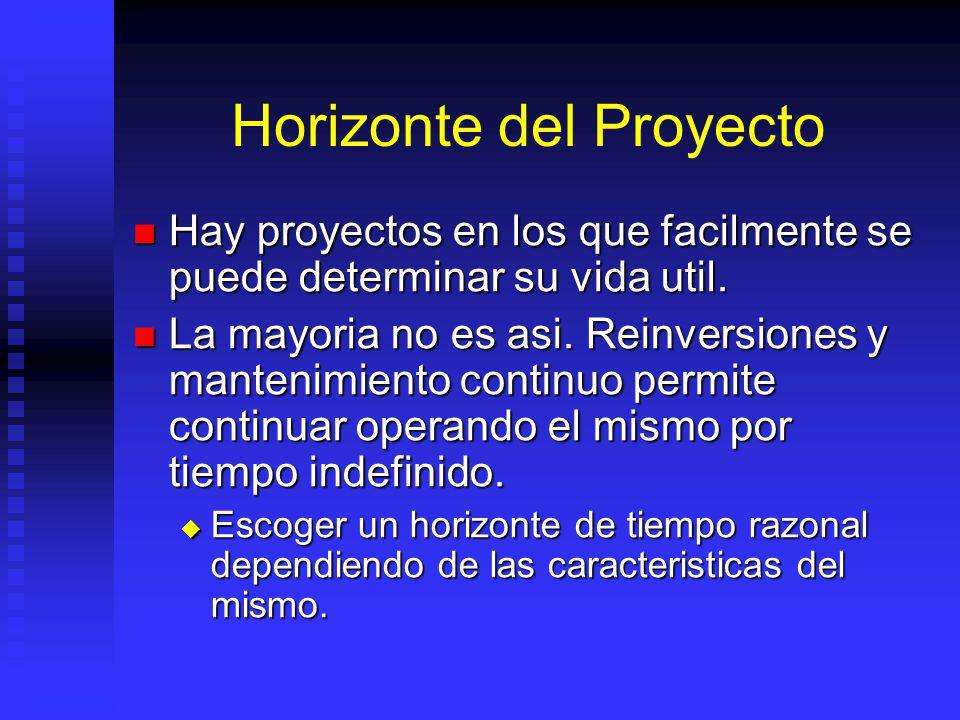Capital de Trabajo Valor monetario de los stocks requeridos para producir y distribuir los productos y servicios generados por el proyecto. Valor mone