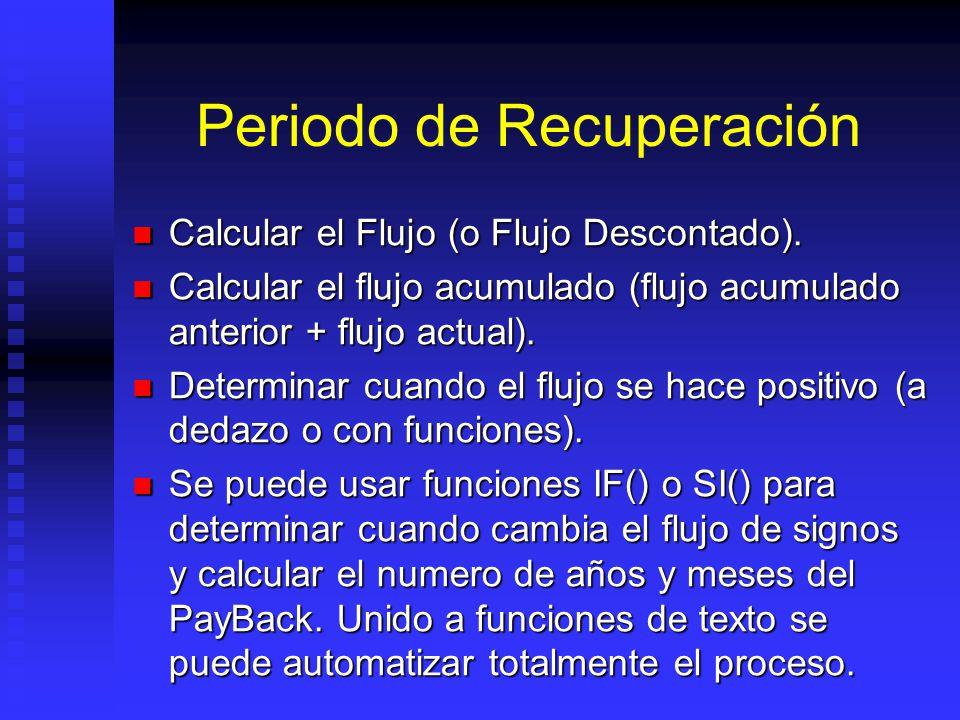 TIR: Goal Seek (Buscar Objetivo) TIR puede ser calculada usando Herramienta Goal Seek (Buscar Objetivo de Excel): TIR puede ser calculada usando Herra
