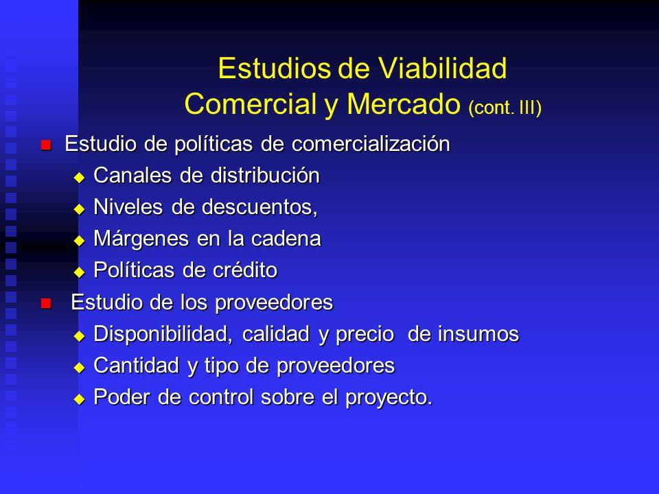 Estudios de Viabilidad Comercial y Mercado (cont. II) Estudio de la demanda Estudio de la demanda Cantidad de bien o servicio que mercado requiere a u