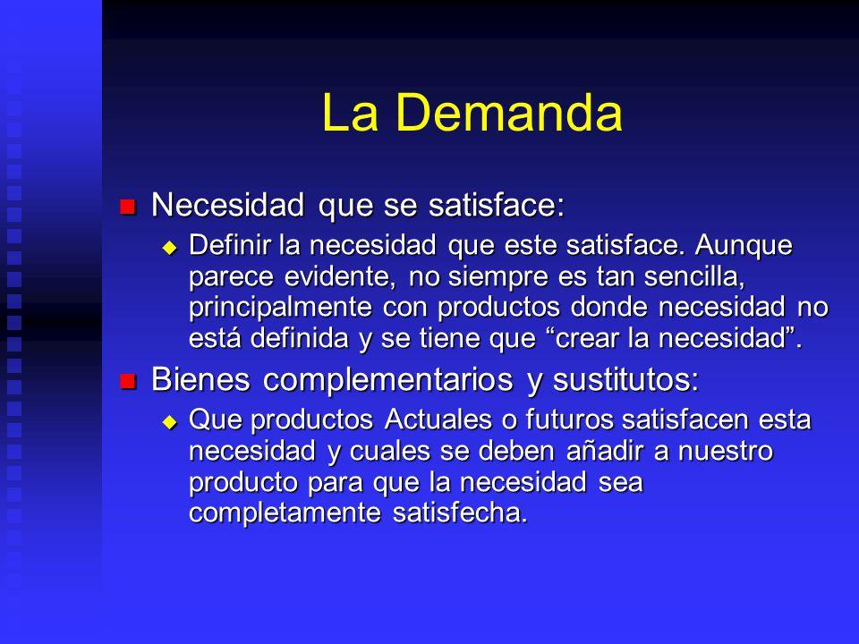 Definicion del Producto o Servicio Composición (¿Qué es?): Composición (¿Qué es?): Definir qué es el producto, y para ello se analizan los elementos d