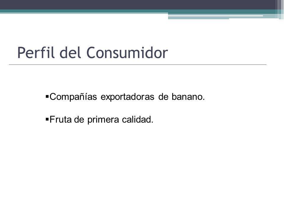 Perfil del Consumidor Compañías exportadoras de banano. Fruta de primera calidad.