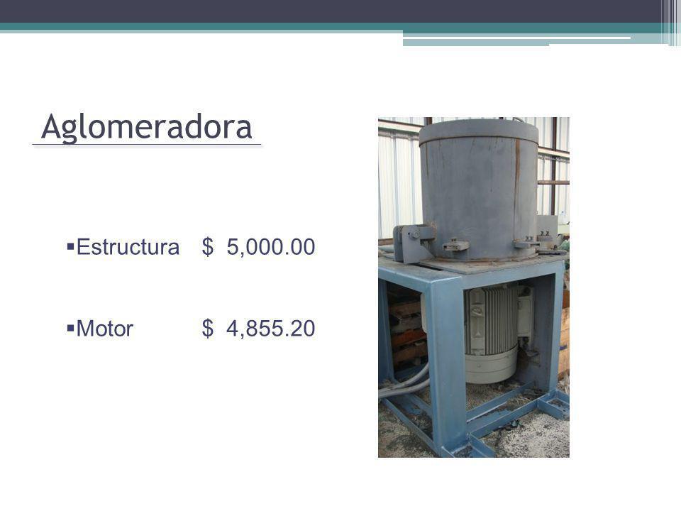 Aglomeradora Estructura $ 5,000.00 Motor$ 4,855.20