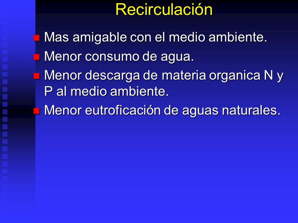 Manejo de N y Materia Organica Permite reciclar proteina. Permite reciclar proteina. Menor consumo de proteina en balanceado. Menor consumo de protein