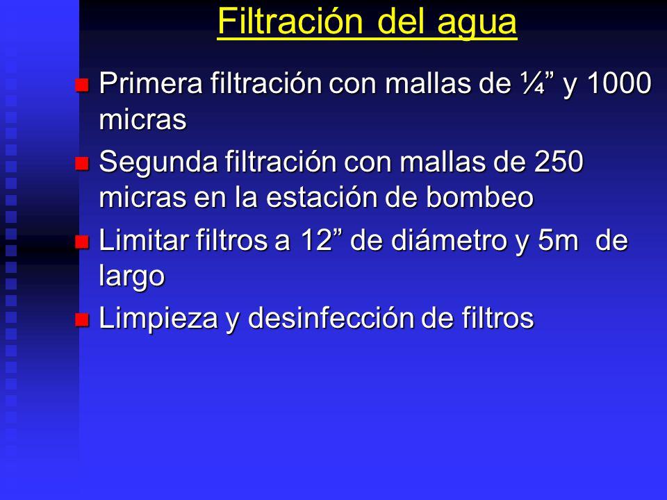 Sistemas de Pretratamiento Filtración. Filtración. Sedimentación. Sedimentación. Desinfección. Desinfección. Bombeo por horas de marea y tipos de mare
