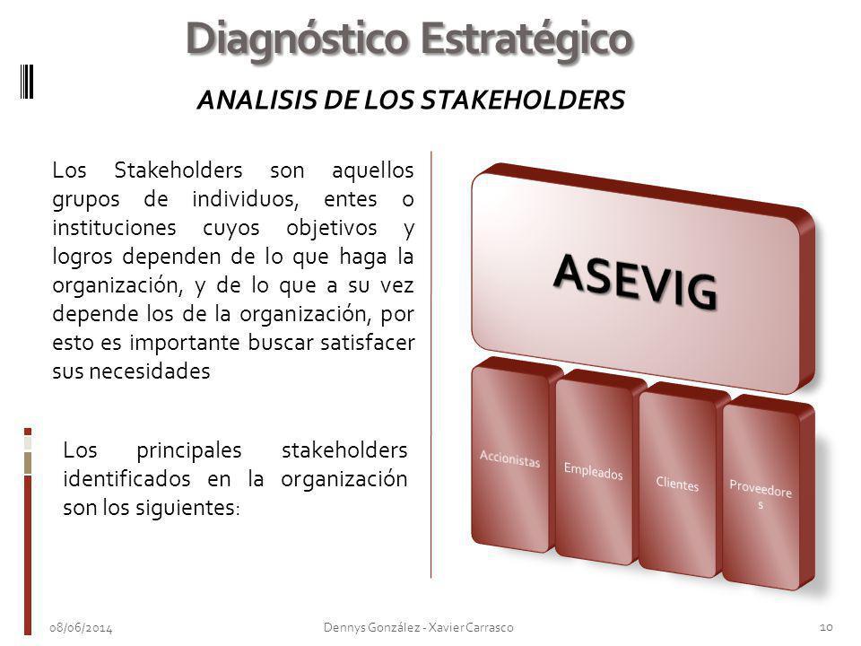 Los Stakeholders son aquellos grupos de individuos, entes o instituciones cuyos objetivos y logros dependen de lo que haga la organización, y de lo qu