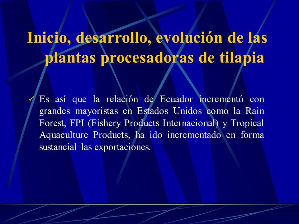 Es así que la relación de Ecuador incrementó con grandes mayoristas en Estados Unidos como la Rain Forest, FPI (Fishery Products Internacional) y Trop