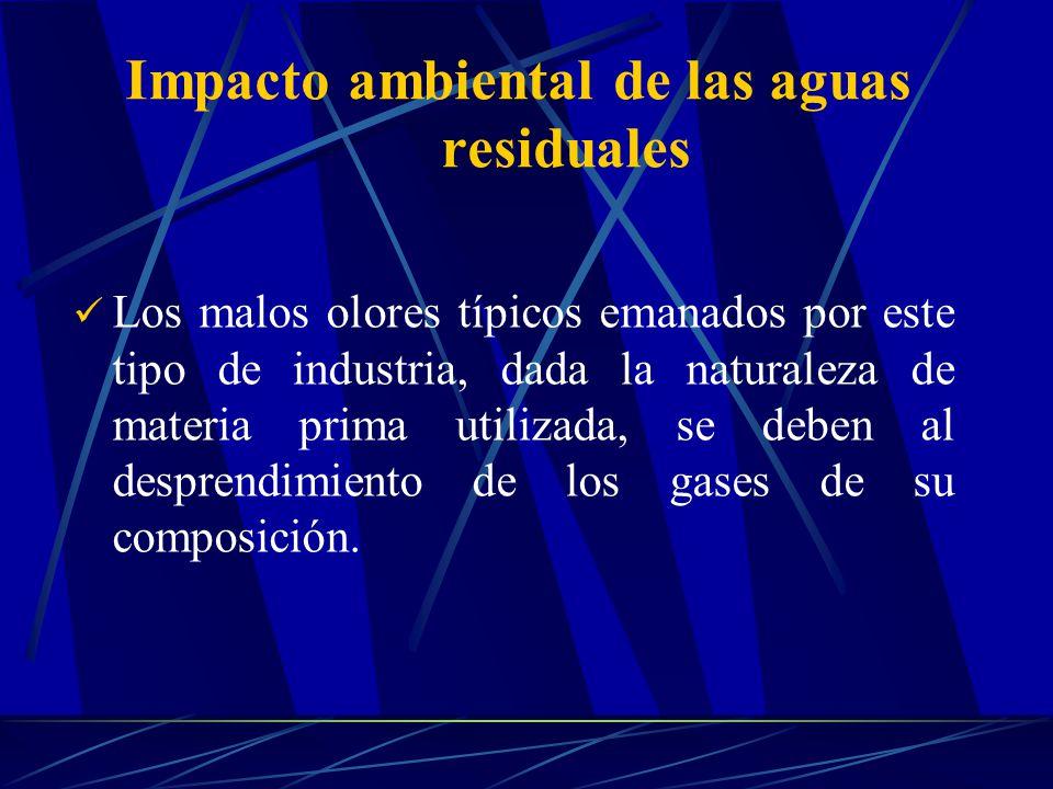 Los malos olores típicos emanados por este tipo de industria, dada la naturaleza de materia prima utilizada, se deben al desprendimiento de los gases