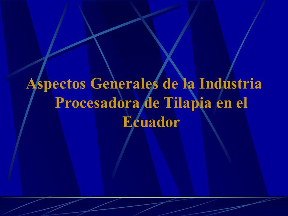 Aspectos Generales de la Industria Procesadora de Tilapia en el Ecuador