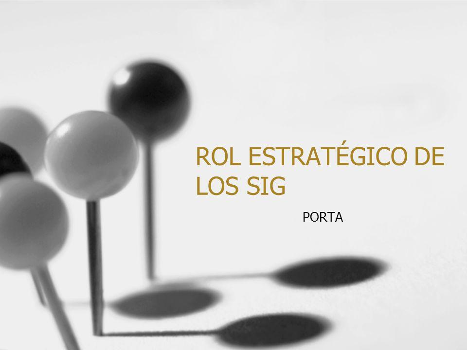 ROL ESTRATÉGICO DE LOS SIG PORTA