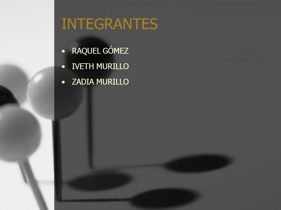 INTEGRANTES RAQUEL GÓMEZ IVETH MURILLO ZADIA MURILLO