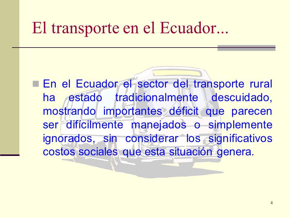 4 El transporte en el Ecuador...