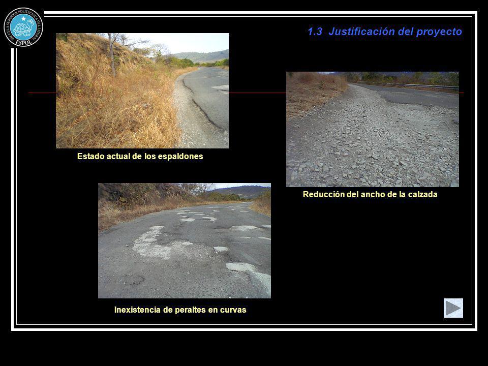 Valor soporte del suelo (C.B.R.) Resultados del Ensayo CBR de la carretera a rehabilitar Especificaciones del MOP para diferentes ensayos de materiales La Sub-Base presenta características Clase 1 Base corresponde a Clase 1 - Tipo B 3.2.3 Diseño Estructural