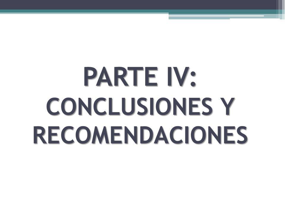 PARTE IV: CONCLUSIONES Y RECOMENDACIONES