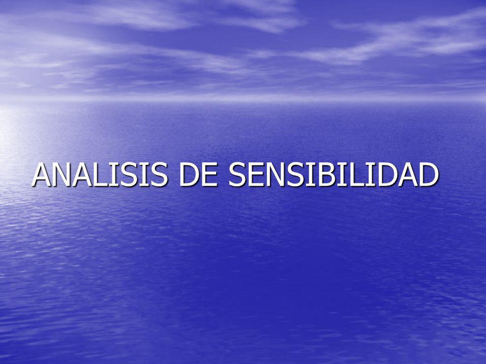ANALISIS DE SENSIBILIDAD