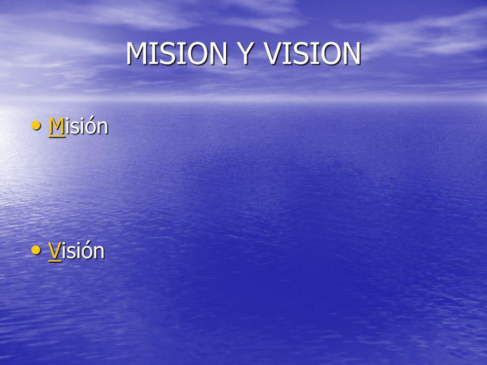 MISION Y VISION Misión Misión M Visión Visión V