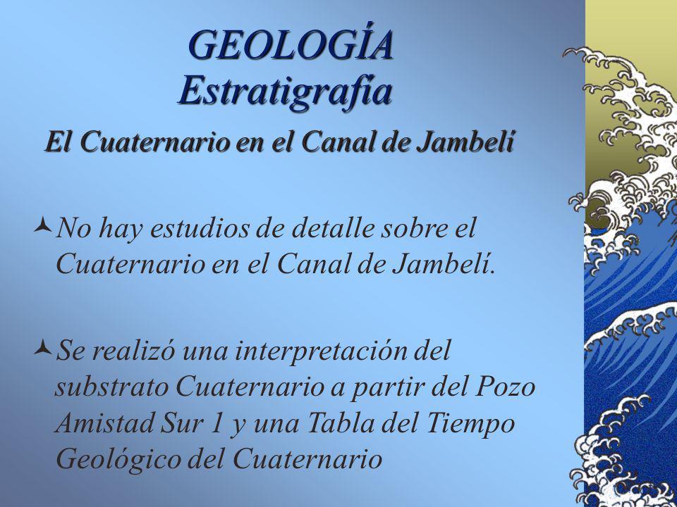 GEOLOGÍA El Graben de Jambelí Cuenca desde el Mioceno inferior. Paquete sedimentario de 12 Km máximo. Secuencias estratigráficas similares a la cuenca