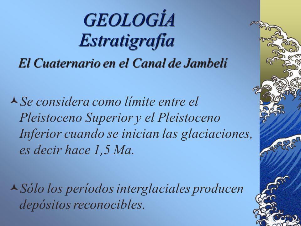 GEOLOGÍA El Cuaternario en el Canal de Jambelí El Cuaternario en el Canal de Jambelí No hay estudios de detalle sobre el Cuaternario en el Canal de Ja